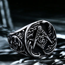 Load image into Gallery viewer, GUNGNEER Masonic Ring Stainless Steel Classic Style Master Signet Accessory For Men