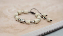Load image into Gallery viewer, HoliStone Adjustable Beautiful Beige Natural Lava Stone Charm Bracelet for Women