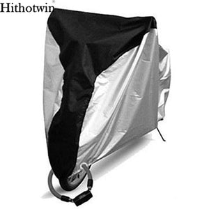 2TRIDENTS Waterproof Motorbike Cover All Season Weather Outdoor Protection for Bike Motorbike (All Silver, L)