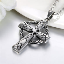 Load image into Gallery viewer, GUNGNEER Stainless Steel Celtic Knot Cross Pendant Necklace Tree of Life Earrings Jewelry Set