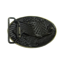 Load image into Gallery viewer, GUNGNEER Men Goldtone God Bless America Eagle Belt Buckle Patriotic Jewelry Accessories