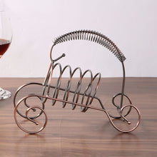 Load image into Gallery viewer, 2TRIDENTS Wine Bottle Holding Rack Storage - Kitchen Bar Accessories Home Decor Bar Supplies (Brown)