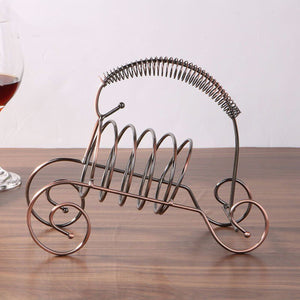 2TRIDENTS Wine Bottle Holding Rack Storage - Kitchen Bar Accessories Home Decor Bar Supplies (Brown)
