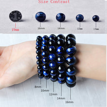 Load image into Gallery viewer, HoliStone Blue Tiger Eye Stone Beads Bracelet ? Anxiety Stress Relief Yoga Beads Bracelets Chakra Healing Crystal Bracelet for Women and Men