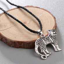 Load image into Gallery viewer, GUNGNEER Celtic Knots Viking Leogard Trinity Pendant Necklace Stainless Steel Jewelry Men Women