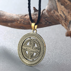 GUNGNEER Celtic Knot Viking Shield Pendant Necklace Stainless Steel Jewelry Accessories Amulet