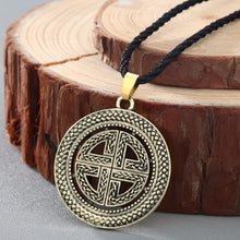 Load image into Gallery viewer, GUNGNEER Celtic Knot Viking Shield Pendant Necklace Stainless Steel Jewelry Accessories Amulet
