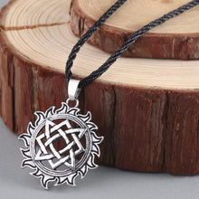 Load image into Gallery viewer, GUNGNEER Celtic Knots Viking Solar Stainless Steel Amulet Pendant Necklace Jewelry Accessories