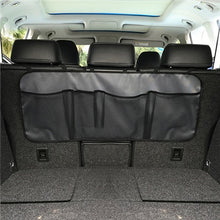 Load image into Gallery viewer, 2TRIDENTS Back Seat Car Storage Mesh Hanging Net Multi Pocket Storage for Accessories Supplies Travel Friendly (A Black)