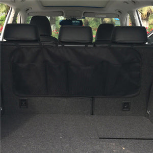 2TRIDENTS Back Seat Car Storage Mesh Hanging Net Multi Pocket Storage for Accessories Supplies Travel Friendly (A Black)