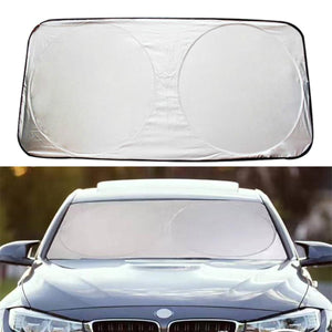 2TRIDENTS Windshield Sunshade for Tesla Model-3 Styling Folding Keep Your Car Cool Heat Reflector (Silver)