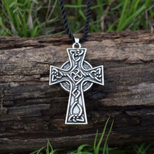 Load image into Gallery viewer, GUNGNEER Celtic Knots Triquetra Cross Trinity Stainless Steel Pendant Jewelry Men Women