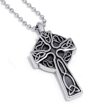 Load image into Gallery viewer, GUNGNEER Celtic Irish Trinity Knot Cross Stainless Steel Pendant Necklace Jewelry for Men Women