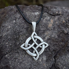 Load image into Gallery viewer, GUNGNEER Irish Celtic Knot Round Pendant Necklace Cross Wings Key Chain Jewelry Set Men Women