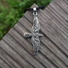 Load image into Gallery viewer, GUNGNEER Celtic Irish Trinity Viking Eagle Stainless Steel Pendant Necklace Jewelry Accessories