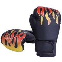 Load image into Gallery viewer, 2TRIDENTS Children Boxing Gloves Cartoon Safe Punching Boxing Training Gloves Gift for Children (Black)