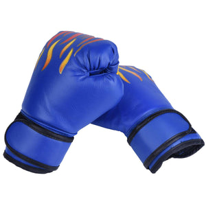 2TRIDENTS Children Boxing Gloves Cartoon Safe Punching Boxing Training Gloves Gift for Children (Black)