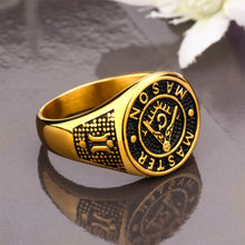 Load image into Gallery viewer, GUNGNEER Masonic Ring Multi-size Stainless Steel Master Mason Accessories For Men