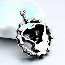 Load image into Gallery viewer, GUNGNEER Rock Punk Skull Necklace Grim Reaper Ring Stainless Steel Jewelry Set Men Women
