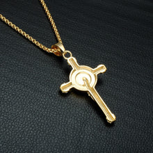 Load image into Gallery viewer, GUNGNEER Jesus On Cross Pendant Necklace Christian Chain Jewelry Accessory For Men Women