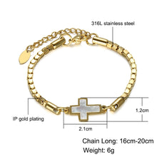 Load image into Gallery viewer, GUNGNEER Adjustable Cross Bracelet Stainless Steel Jesus Jewelry Accessory Gift For Women