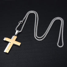 Load image into Gallery viewer, GUNGNEER Stainless Steel Cross Pendant Necklace Christian Jewelry Accessory For Men Women