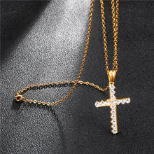 Load image into Gallery viewer, GUNGNEER Cross Necklace Jesus Pendant God Christ Jewelry Accessory Gift For Men Women