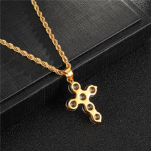 Load image into Gallery viewer, GUNGNEER Christian Cross Pendant Necklace Jesus Jewelry Accessory Gift For Men Women