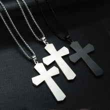 Load image into Gallery viewer, GUNGNEER Stainless Steel Cross Necklace God Christian Pendant Jewelry Accessory For Men Women