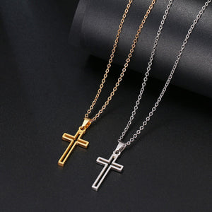 GUNGNEER Christian Cross Necklace God Christ Pendant Jewelry Gift Outfit For Men Women