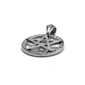 ENXICO Pentagram Star Pendant Necklace ? 316L Stainless Steel ? Nordic Scandinavian Wiccan Jewelry