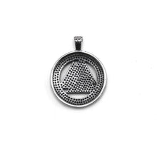Load image into Gallery viewer, ENXICO Valknut The Symbol of Odin with Rune Circle Pendant Necklace ? 316L Stainless Steel ? Nordic Scandinavian Viking Jewelry