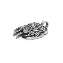 Load image into Gallery viewer, ENXICO Celtic Knot Bear Paw Pendant Necklace ? 316L Stainless Steel ? Nordic Scandinavian Viking Jewelry