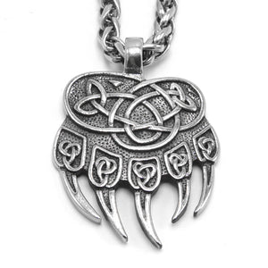 ENXICO Celtic Knot Bear Paw Pendant Necklace ? 316L Stainless Steel ? Nordic Scandinavian Viking Jewelry