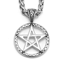 Load image into Gallery viewer, ENXICO Pentagram Star Pendant Necklace ? 316L Stainless Steel ? Nordic Scandinavian Wiccan Jewelry