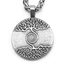 Load image into Gallery viewer, ENXICO Yggdrasil The Tree of Life Pendant Necklace ? 316L Stainless Steel ? Nordic Scandinavian Viking Jewelry