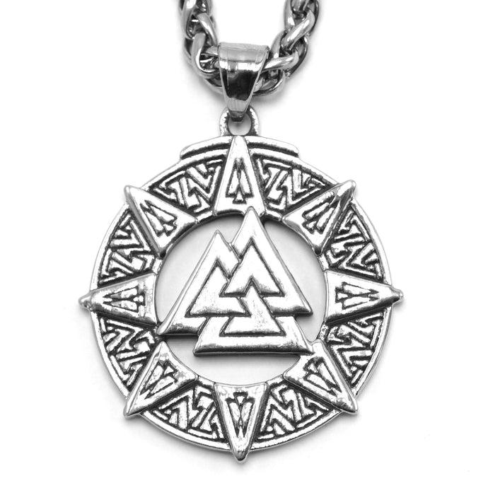 ENXICO Valknut The Knot of The Slain Pendant Necklace ? 316L Stainless Steel ? Nordic Scandinavian Viking Jewelry