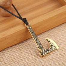 Load image into Gallery viewer, GUNGNEER Irish Celtic Knot Trinity Symbol Axe Pendant Necklace Stainless Steel Jewelry Gift