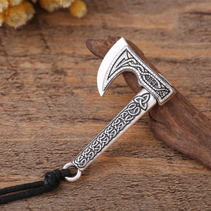 GUNGNEER Irish Celtic Knot Trinity Symbol Axe Pendant Necklace Stainless Steel Jewelry Gift