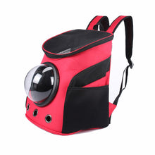 Load image into Gallery viewer, 2TRIDENTS Space Capsule Transparent Pet Shoulder Backpack - Travel Bag for Small Animals, Designed for Walking & Outdoor Use