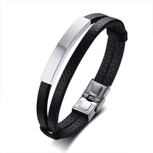 Load image into Gallery viewer, GUNGNEER Stainless Steel Leviathan Satan Cross Ring Leather Bracelet Jewelry Set Gift