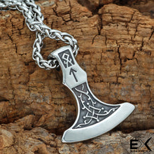 Load image into Gallery viewer, ENXICO Axe of Perum Charm Pendant Necklace ? 316L Stainless Steel ? Nordic Scandinavian Viking Jewelry