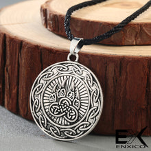 Load image into Gallery viewer, ENXICO Bear Paw Pendant Necklace with Celtic Knot Circle Surrounding ? Gold Color ? Irish Celtic Jewelry