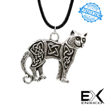Load image into Gallery viewer, ENXICO Cat Pendant Necklace with Celtic Knots Pattern ? Celtic Zodiac Animal Spirit Symbol ? Irish Celtic Jewelry
