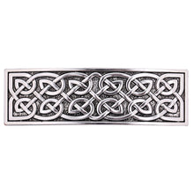 Load image into Gallery viewer, ENXICO Cectic Knot Hairclip ? Silver Color ? Irish Celtic Hair Accessory for Women