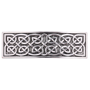 ENXICO Cectic Knot Hairclip ? Silver Color ? Irish Celtic Hair Accessory for Women