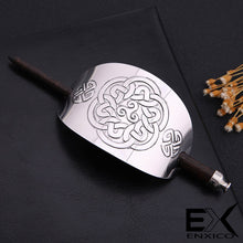 Load image into Gallery viewer, ENXICO Cectic Knot Hairpin ? Silver Color ? Irish Celtic Hair Accessory for Women