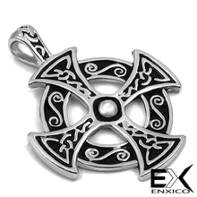 Load image into Gallery viewer, ENXICO Celtic Cross Pattée Charm Pendant Necklace for Women & Men ? Pewter ? Irish Celtic Jewelry