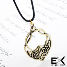 Load image into Gallery viewer, ENXICO Celtic Knot Charm Pendant Necklace for Men Women ? Irish Celtic Jewelry