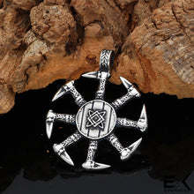 Load image into Gallery viewer, ENXICO Kolovrat Slavic Sun Wheel Pendant Necklace ? 316L Stainless Steel ? Ancient Slavic Jewelry